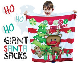 santa sack kids christmas stocking name custom personalised