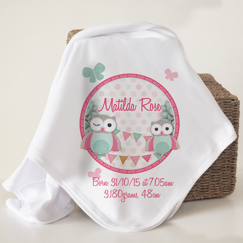 personalised organic cotton baby blankets spatz mini peeps