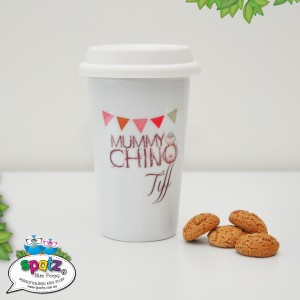 Personalised Reusable Porcelain Eco Mugs