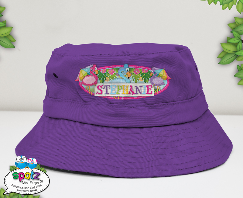 Personalised Kids Adjustable Bucket Hats - SPATZ Mini Peeps® eb7142390c3
