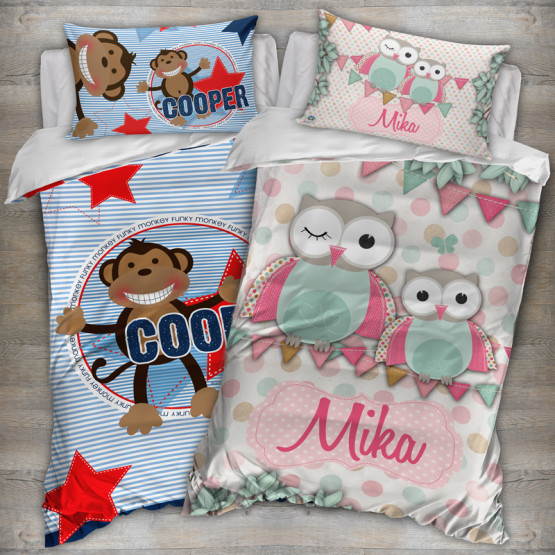 Kids Quilt Covers Duvet Doona Custom Name