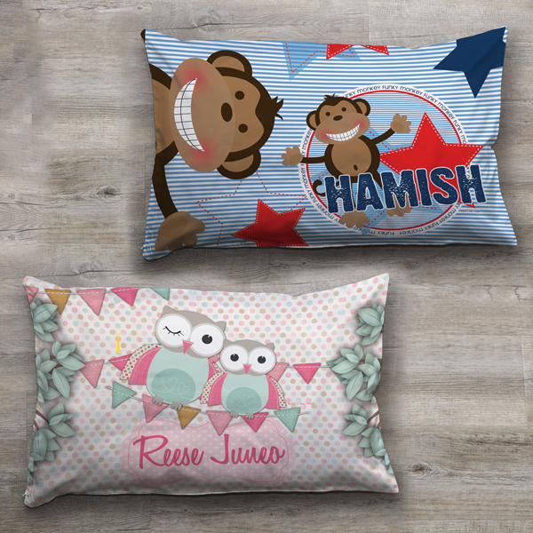 Kids Childrens Bedroom Pillowcase Name Cover