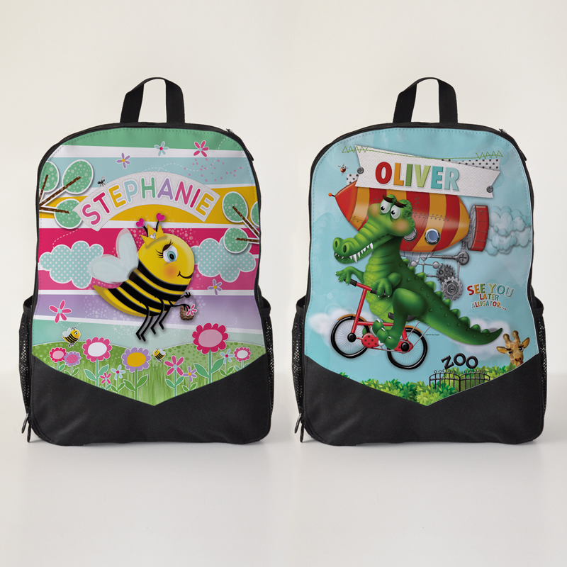 kids backpack school bag kindy personalised childs name