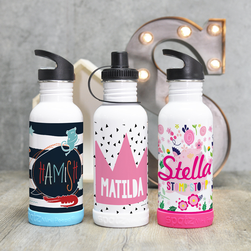 Personalised Stainless Steel Kids Drink Bottles Water Bottle Dinner Time Eat Drink Play Clean For Eating Drinking School Stuff Stuff For