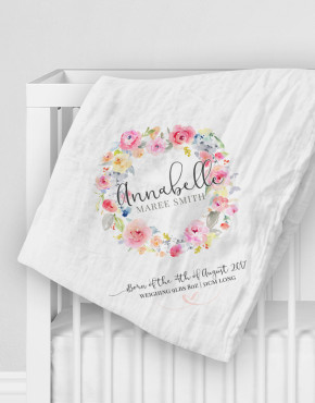 Personalised Cotton Muslin Baby Wrap
