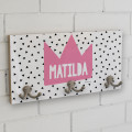 Kids Coat Hanger Wall Hook Name School Bag Hanger Hat