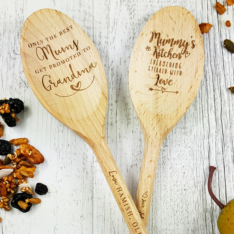 personalised engraved wooden spoons