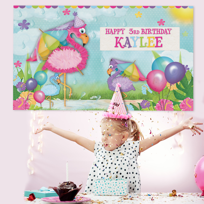 Personalised Banners Kids Birthday Backdrops