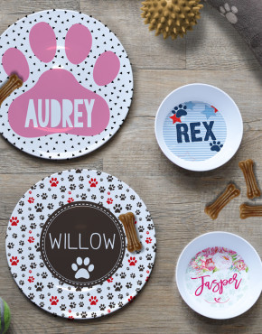 Dog & Cat Bowls & Plates Personalised Custom Name