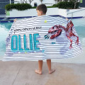 kids towel, kids beach towel, kids personalised beach towel, kids beach towel with name, kids name bath towel, monogrammed bath towel, keepsake towel, new baby gift, new baby keepsake, baby shower gift, name on kids beach towel, cool kids beach towel