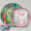 Personalised Kids Plates melamine Custom Name