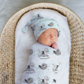 Personalised Baby Wrap Swaddle Blankets & Beanie Sets
